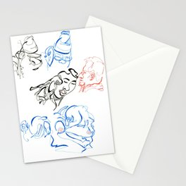 blind contours Stationery Cards