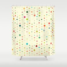 retro rain spots cream Shower Curtain