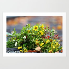 Wild Sunflower Bouquet Art Print