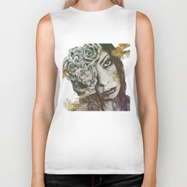 Of Suffering: Autumn (dark lady portrait with roses) Biker Tank