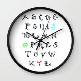 Alphabet JOY Wall Clock