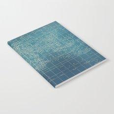 Grunge World Map Notebook