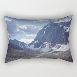 Mount Edith Cavell: Ghost Glacier Rectangular Pillow