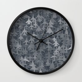 Airplanes camouflage Wall Clock