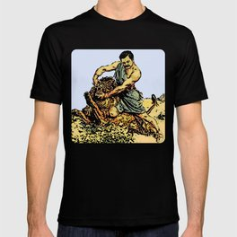 Ron Swanson Slaying A Lion     Parks and Recreation T-shirt
