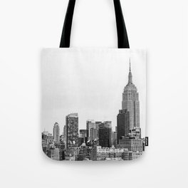 The New York Cityscape City (Black and White) Tote Bag