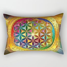 Life Mandala Rectangular Pillow