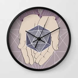 hands and geometry Wall Clock