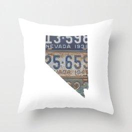 Vintage Nevada Throw Pillow