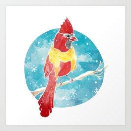 Cool Cardinal Art Print