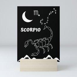 Scorpio zodiac Mini Art Print