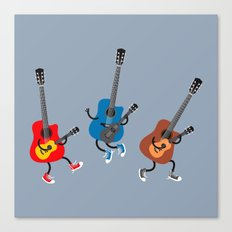 Dancing guitars Canvas Print