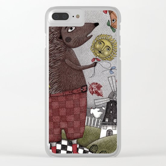 It's a Hedgehog! Clear iPhone Case