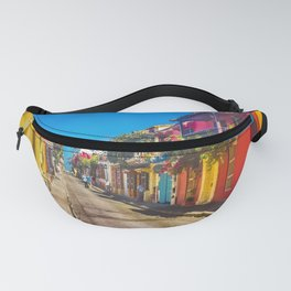 Traditional Street in Cartagena de Indias, Colombia Fanny Pack
