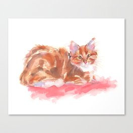 Ginger Girl Canvas Print