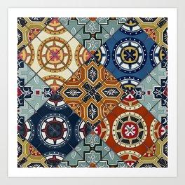 DESEO spanish tiles Art Print