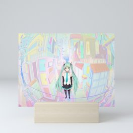 School Girl Japanese v1 Mini Art Print