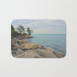 The Rocky Horizon Beach Bath Mat