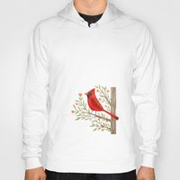 cardinal Hoodies featuring Cardinal by Stephanie Fizer Coleman