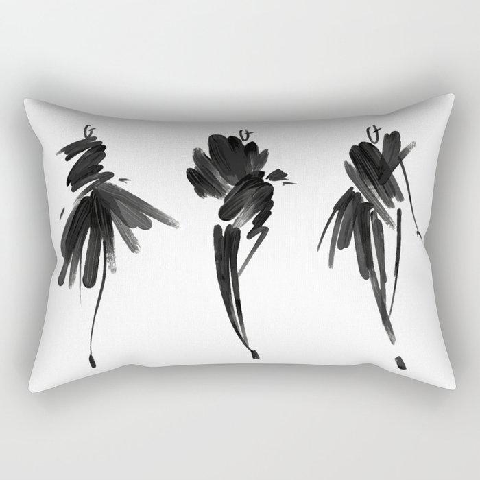 Fashion illustration Rectangular Pillow