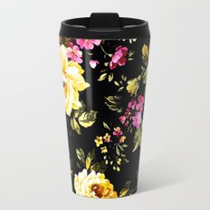 ROSES WHITE AND PINK FLOWERS Metal Travel Mug