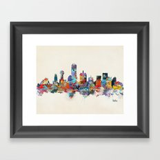 dallas texas skyline Framed Art Print