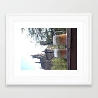 hogwarts Framed Art Prints featuring Hogwarts by Diana G.