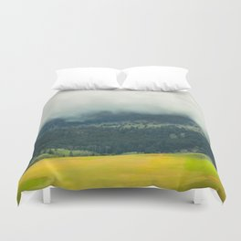 Foggy Morning Meadow Duvet Cover