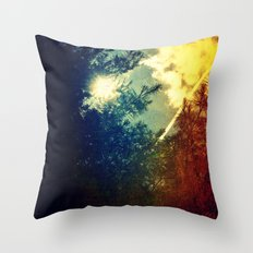 Dreaming in Color (of My First Flight) Throw Pillow