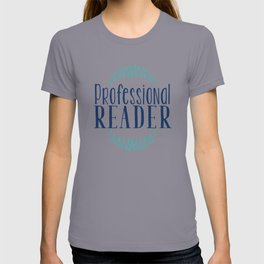 Professional Reader - White w Blue T-shirt