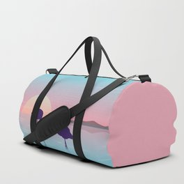 Flamingo Silhouette Beauty Art Duffle Bag