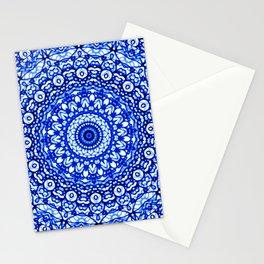 Blue Mandala Mehndi Style G403 Stationery Cards