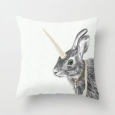 uni-hare All animals are magical Throw Pillow