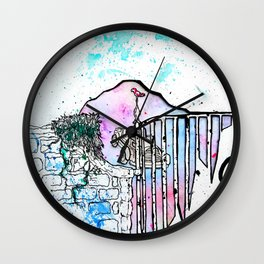 Rainbow road Wall Clock