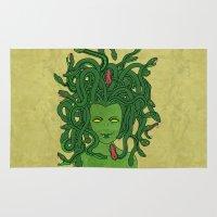 medusa Area & Throw Rugs featuring Medusa by TheAsmek