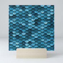 Sparkling Turquoise Mermaid Scales Mini Art Print