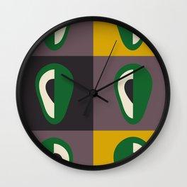 Avocado print Wall Clock