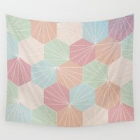 pastel Wall Tapestries featuring Pastel by According to Panda
