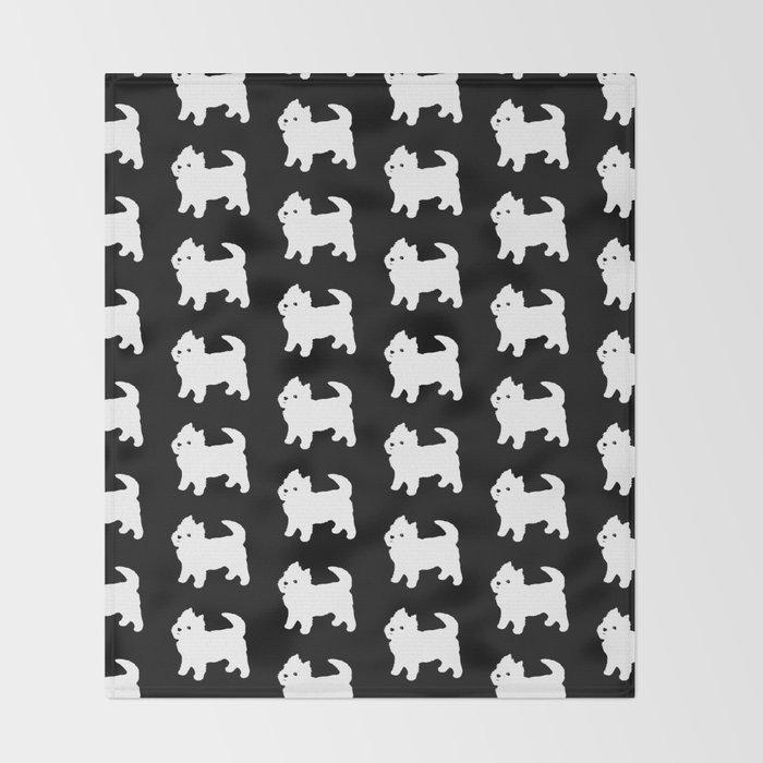 Westie Dog Pattern Throw Blanket