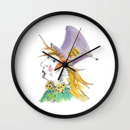 Alice In Wonderland / The Mad Hatter Wall Clock