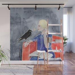 Tippi Hedren & a Crow Wall Mural