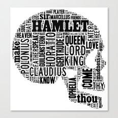 Shakespeare's Hamlet Skull Canvas Print