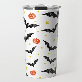Halloween Pumpkins And Bats Travel Mug