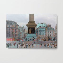 London I - The Nelson's Column  Metal Print