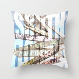 Southernmost Sign Throw Pillow