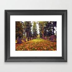 Cemetery in October Framed Art Print