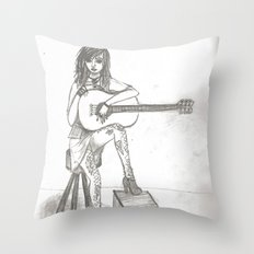 Now If Only I Could Play Guitar (sketch) Throw Pillow
