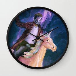 Starlord and a unicorn Wall Clock