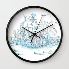 Scientist Frog Wall Clock