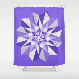 Diamond Purple Mandala Shower Curtain